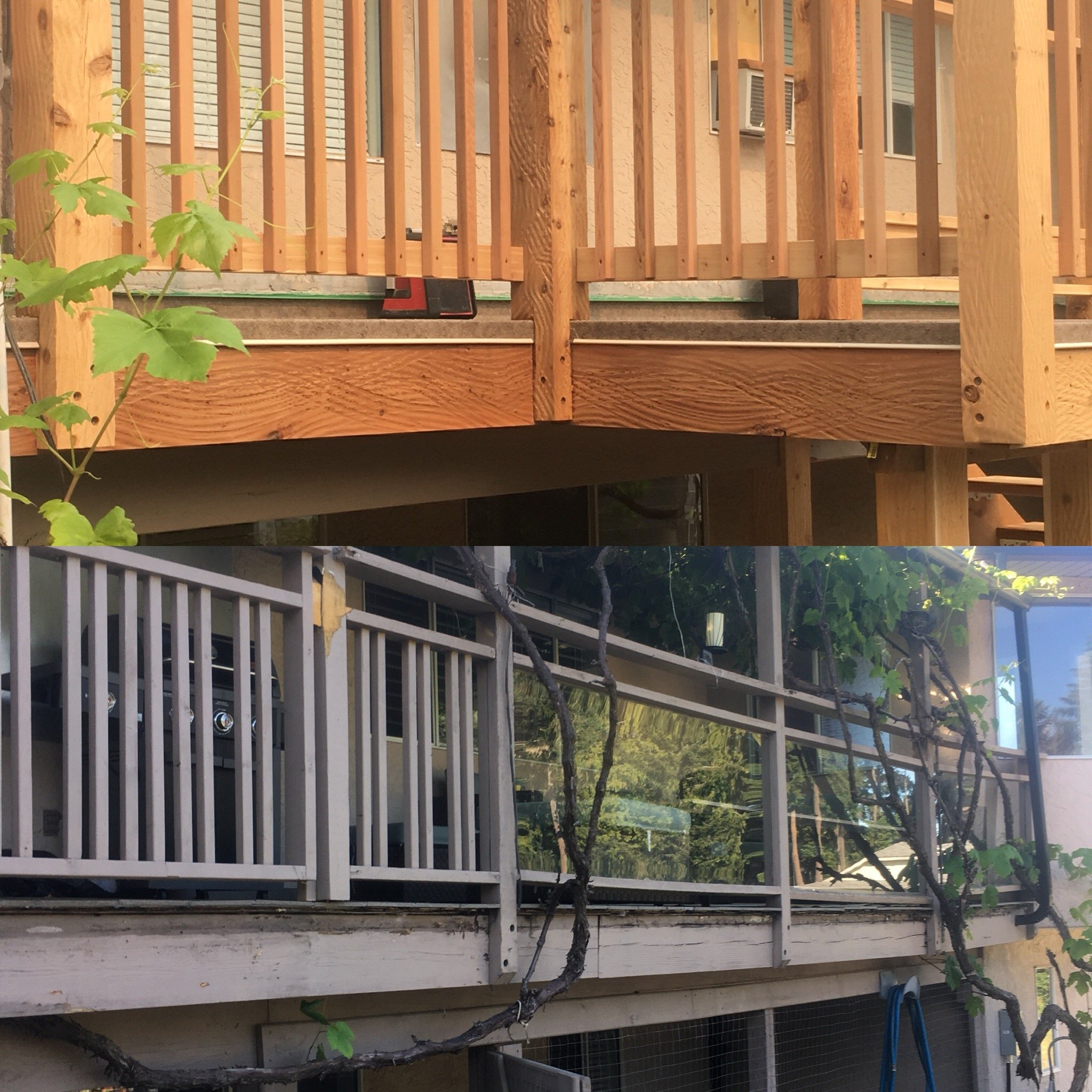 Before and After of the deck